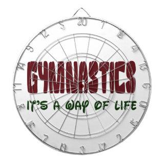 Gymnastics It's a way of life Dartboard With Darts