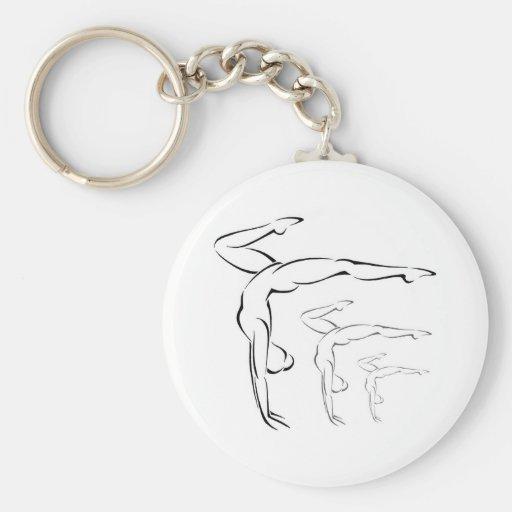 Gymnastics Keychain