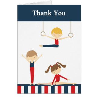 Gymnastics Kids Thank You Card Greeting Cards