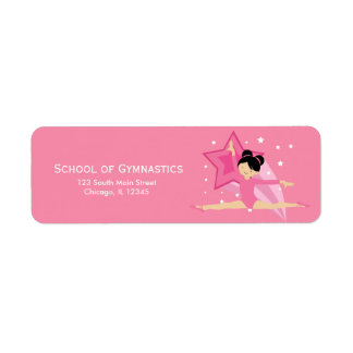 Gymnastics Custom Return Address Label