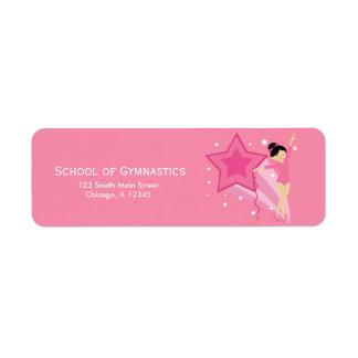 Gymnastics Return Address Label