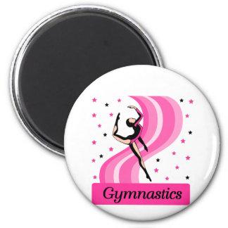 Gymnastics Leap 2 Inch Round Magnet