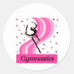 Gymnastics Leap Classic Round Sticker