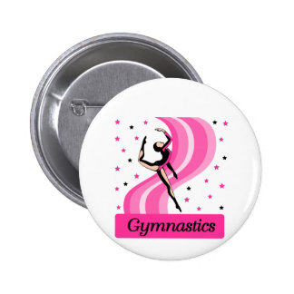 Gymnastics Leap Pinback Button