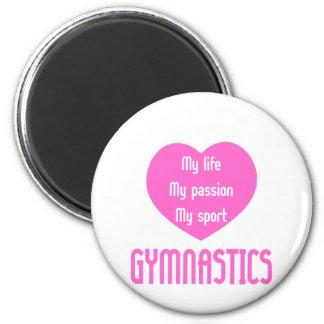 Gymnastics Life Passion Sport 2 Inch Round Magnet