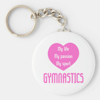 Gymnastics Life Passion Sport Basic Round Button Keychain