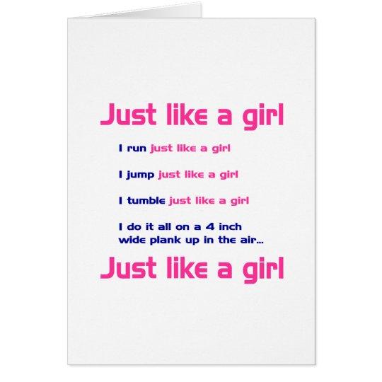 Gymnastics Like a Girl Card