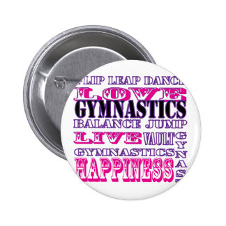 Gymnastics Live, Love, Happiness Apparel for Girls Pin