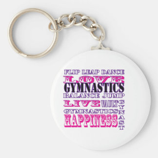 Gymnastics Live, Love, Happiness Apparel for Girls Keychain