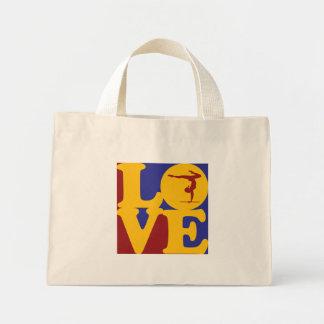 Gymnastics Love Canvas Bags