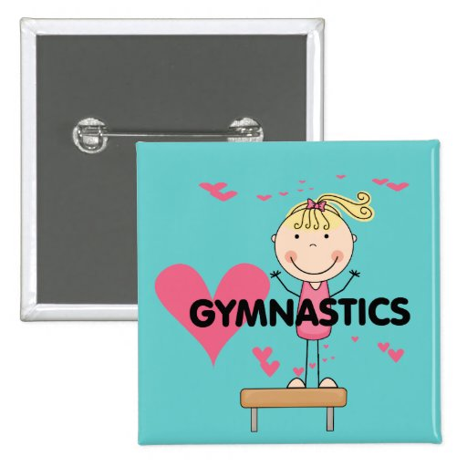 GYMNASTICS - Love Gymnastics Tshirts and Gifts 2 Inch Square Button