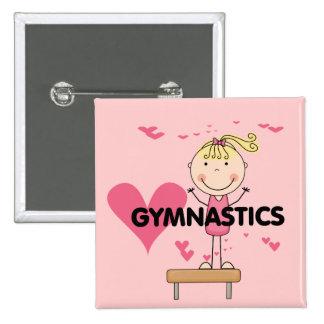 GYMNASTICS - Love Gymnastics Tshirts and Gifts Button