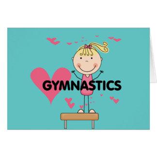 GYMNASTICS - Love Gymnastics Tshirts and Gifts Card