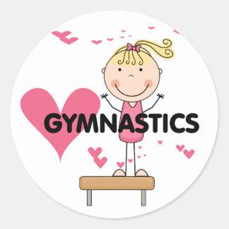 GYMNASTICS - Love Gymnastics Tshirts and Gifts Classic Round Sticker