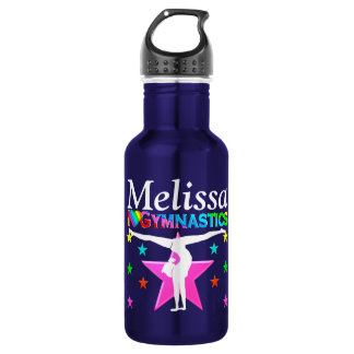 GYMNASTICS LOVE PERSONALIZED WATER BOTTLE