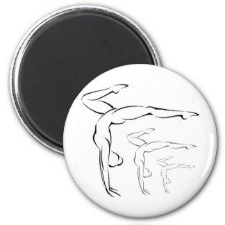 Gymnastics 2 Inch Round Magnet