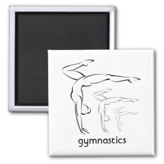 Gymnastics 2 Inch Square Magnet