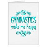 Gymnastics Make Me Happy Greeting Card