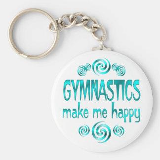 Gymnastics Make Me Happy Keychain