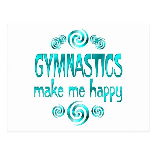 Gymnastics Make Me Happy Postcard