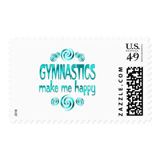 Gymnastics Make Me Happy Stamp