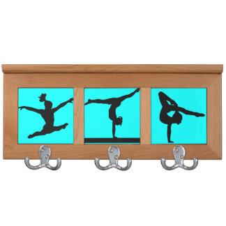 Gymnastics medal display coat rack