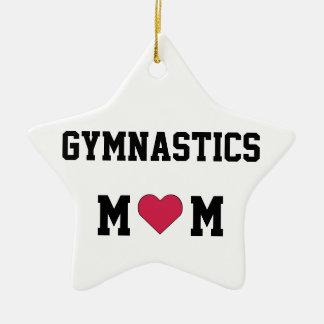 Gymnastics Mom Ceramic Ornament