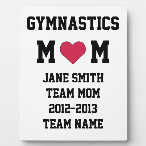 Gymnastics Mom Display Plaques