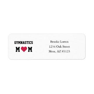 Gymnastics Mom Label