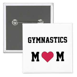 Gymnastics Mom Pinback Button