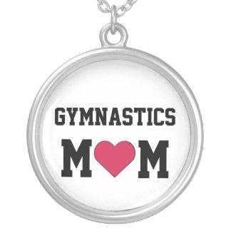 Gymnastics Mom Silver Plated Necklace