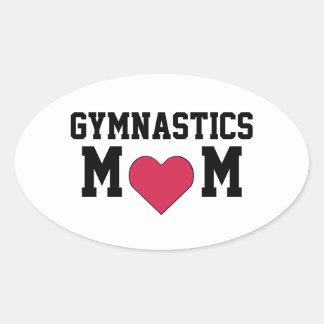 Gymnastics Mom Oval Sticker