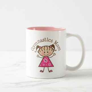 Gymnastics Mom Two-Tone Coffee Mug
