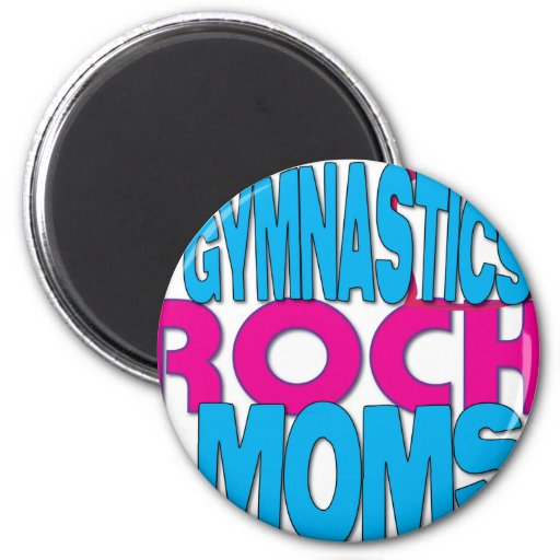 Gymnastics Moms Shirts 2 Inch Round Magnet