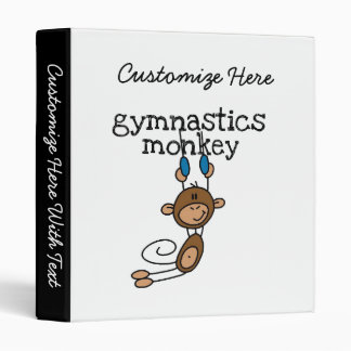 Gymnastics Monkey 3 Ring Binder