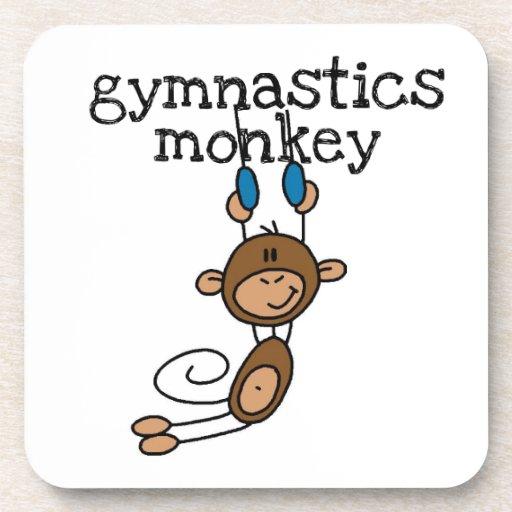 Gymnastics Monkey Beverage Coaster
