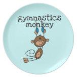 Gymnastics Monkey Party Plates