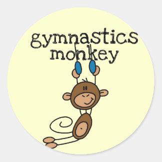 Gymnastics Monkey Tshirts and Gifts Classic Round Sticker