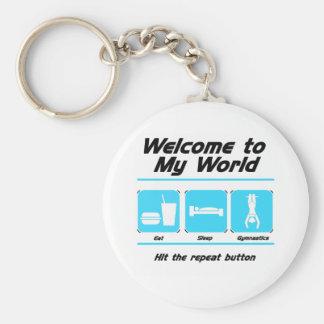 Gymnastics My World Basic Round Button Keychain