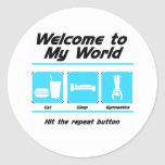 Gymnastics My World Round Sticker