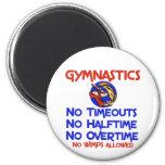 Gymnastics No Wimps 2 Inch Round Magnet