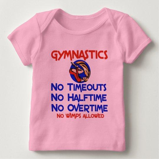 Gymnastics No Wimps Baby T-Shirt