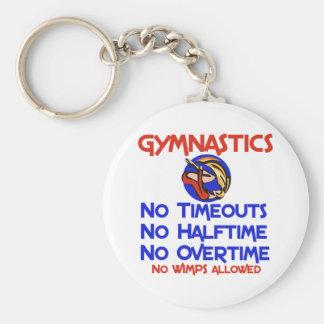 Gymnastics No Wimps Basic Round Button Keychain