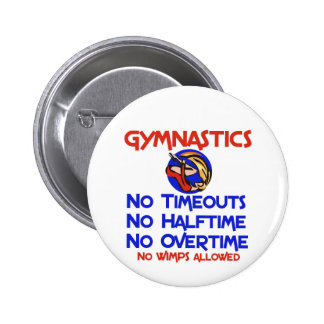 Gymnastics No Wimps Button