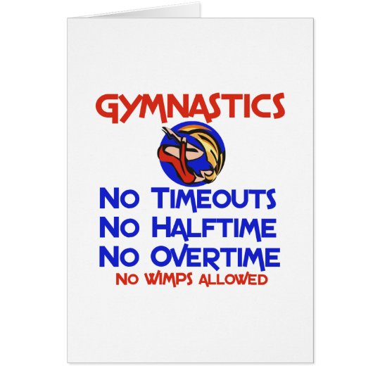 Gymnastics No Wimps Card