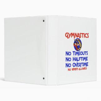 Gymnastics No Wimps Vinyl Binder