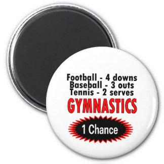 Gymnastics One Chance 1 side 2 Inch Round Magnet