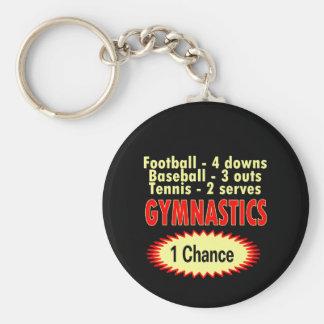 Gymnastics One Chance 1 side Basic Round Button Keychain