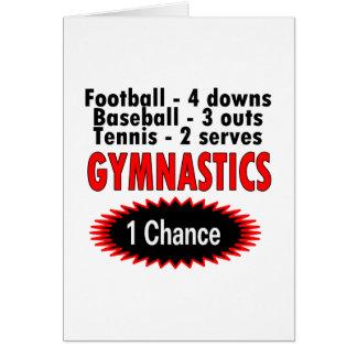 Gymnastics One Chance 1 side Card