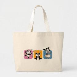 Jumbo Tote Bag with Gymnastics Pandas design